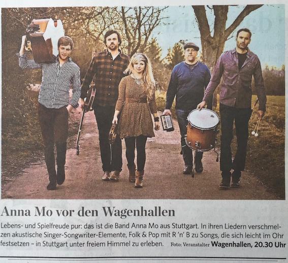 anna mo in der Stuttgarter Zeitung